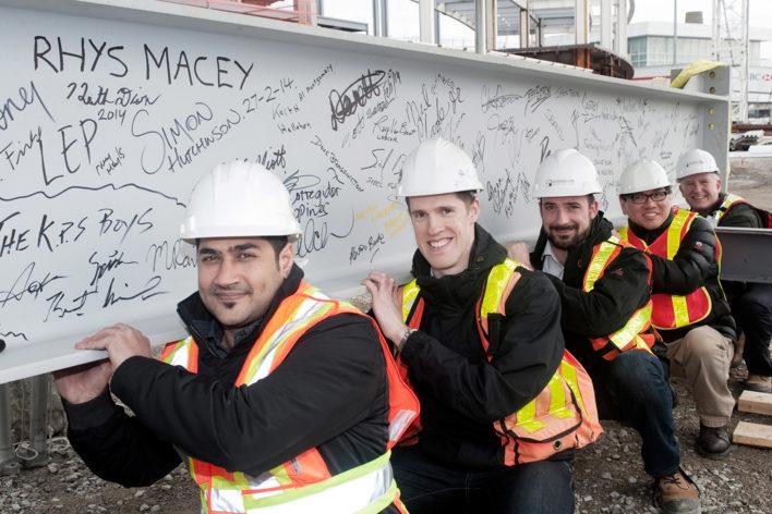 Bush Bohlman team members on construction site