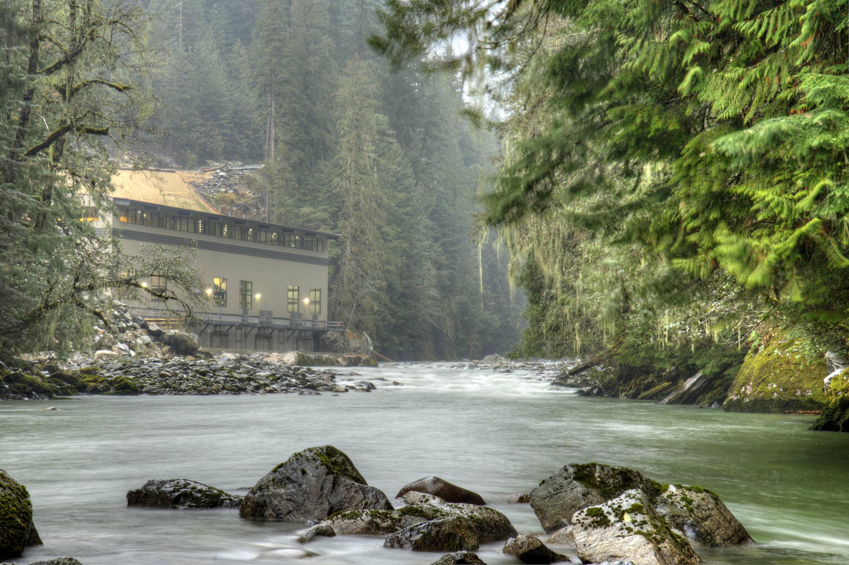 bbp ashlu creek run-of-river hydroelectric plant exterior 2