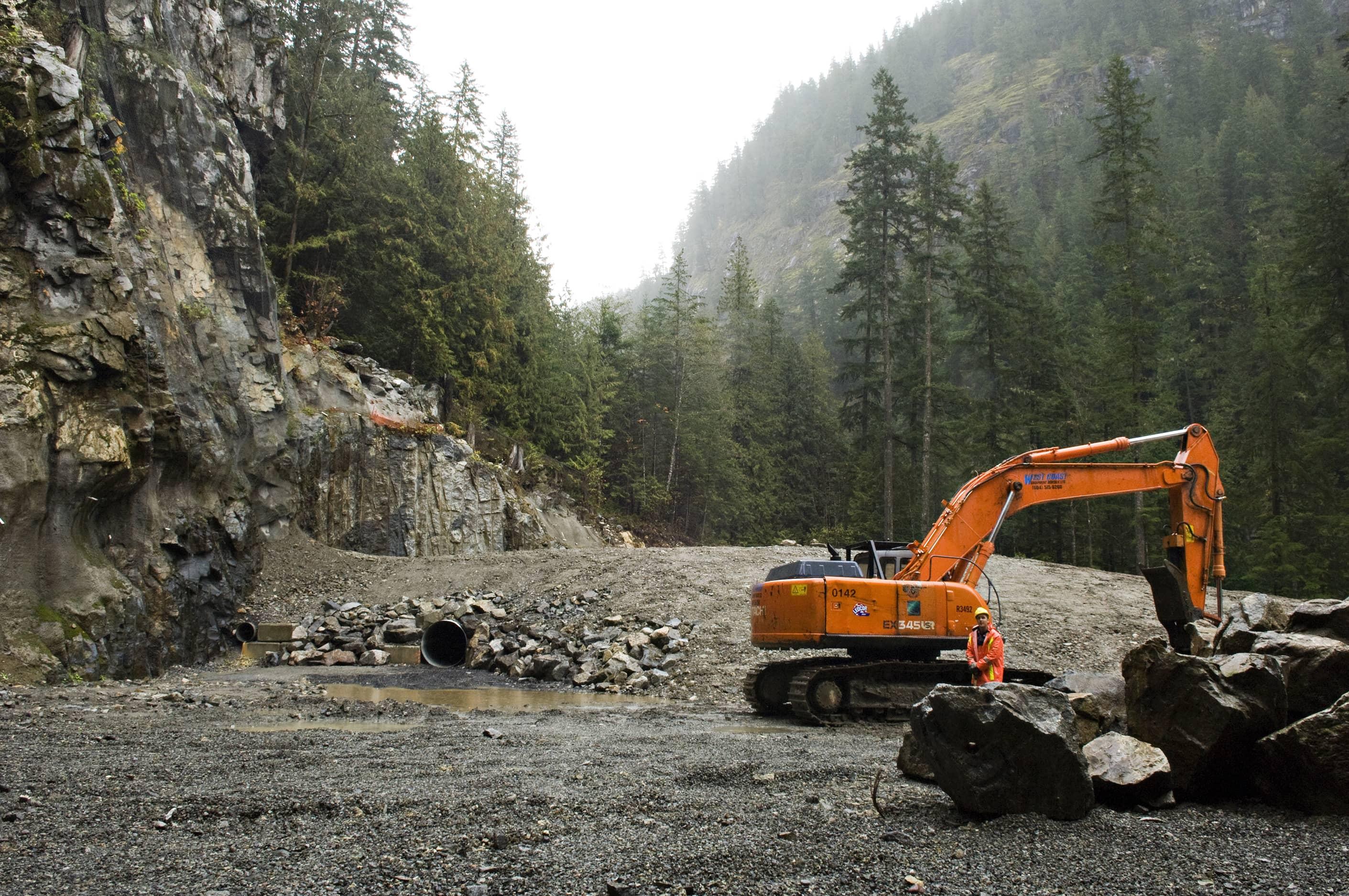 bbp ashlu creek run-of-river hydroelectric plant construction