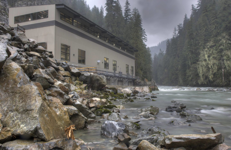 bbp ashlu creek run-of-river hydroelectric plant exterior