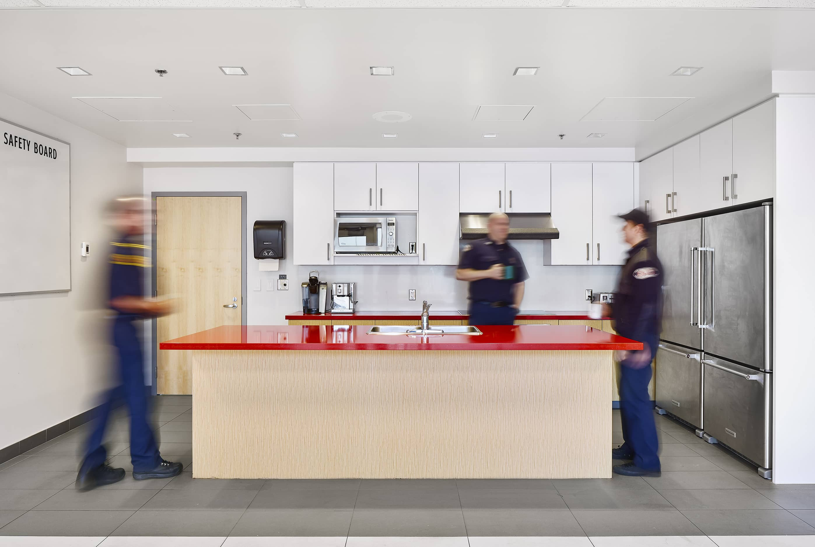 bbp cambie fire hall no. 3 & ambulance station interior breakroom