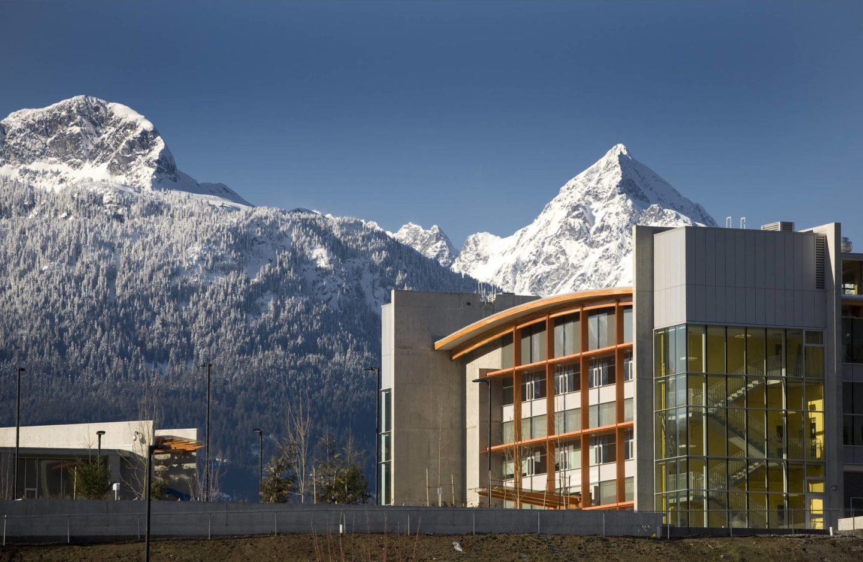 bbp quest university exterior mountainside