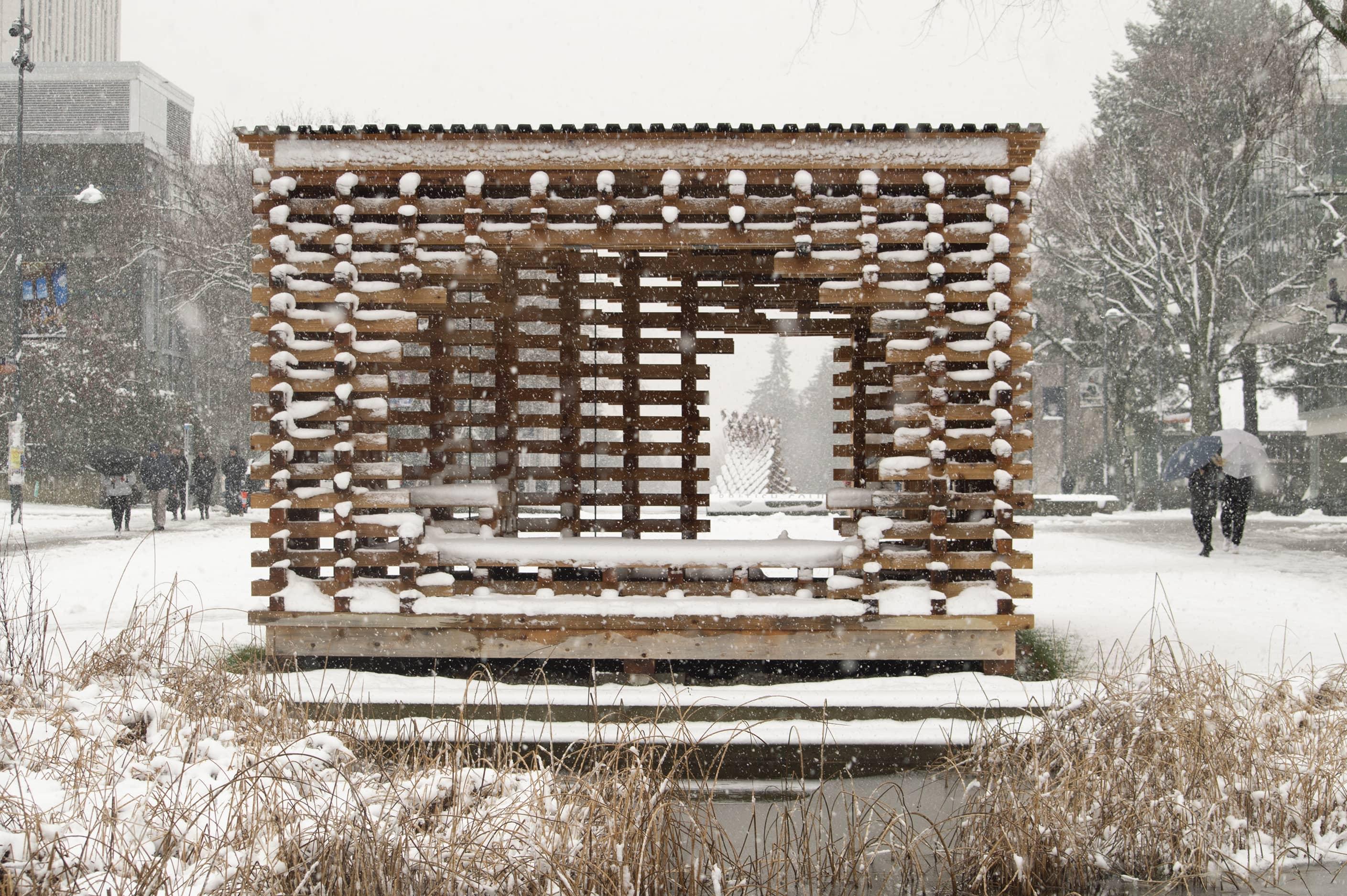 bbp ubc sala c-shore pavilion exterior snow