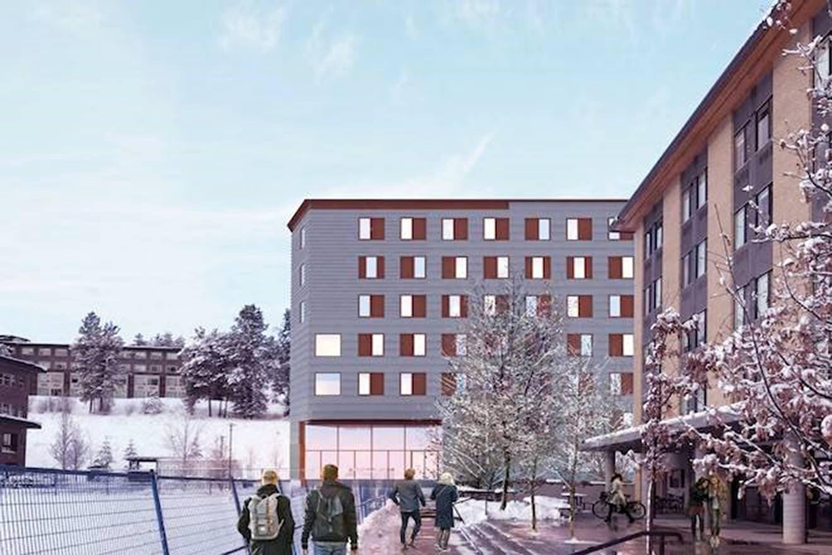 bbp ubco skeena student residences rendering exterior 2