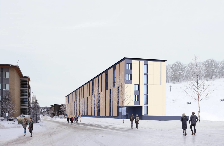 bbp ubco skeena student residences rendering exterior