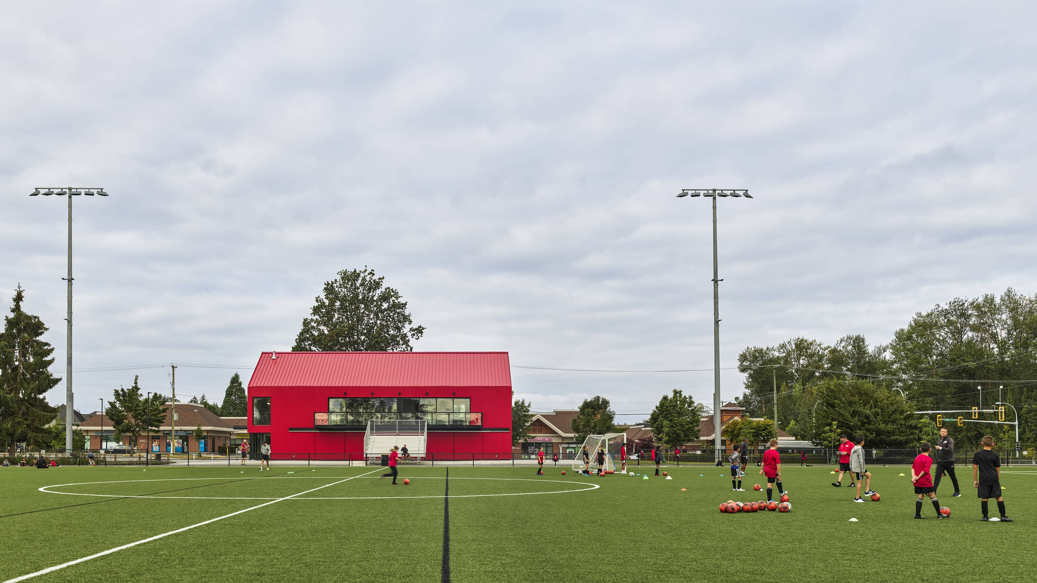 bbp cloverdale fieldhouse exterior and field view