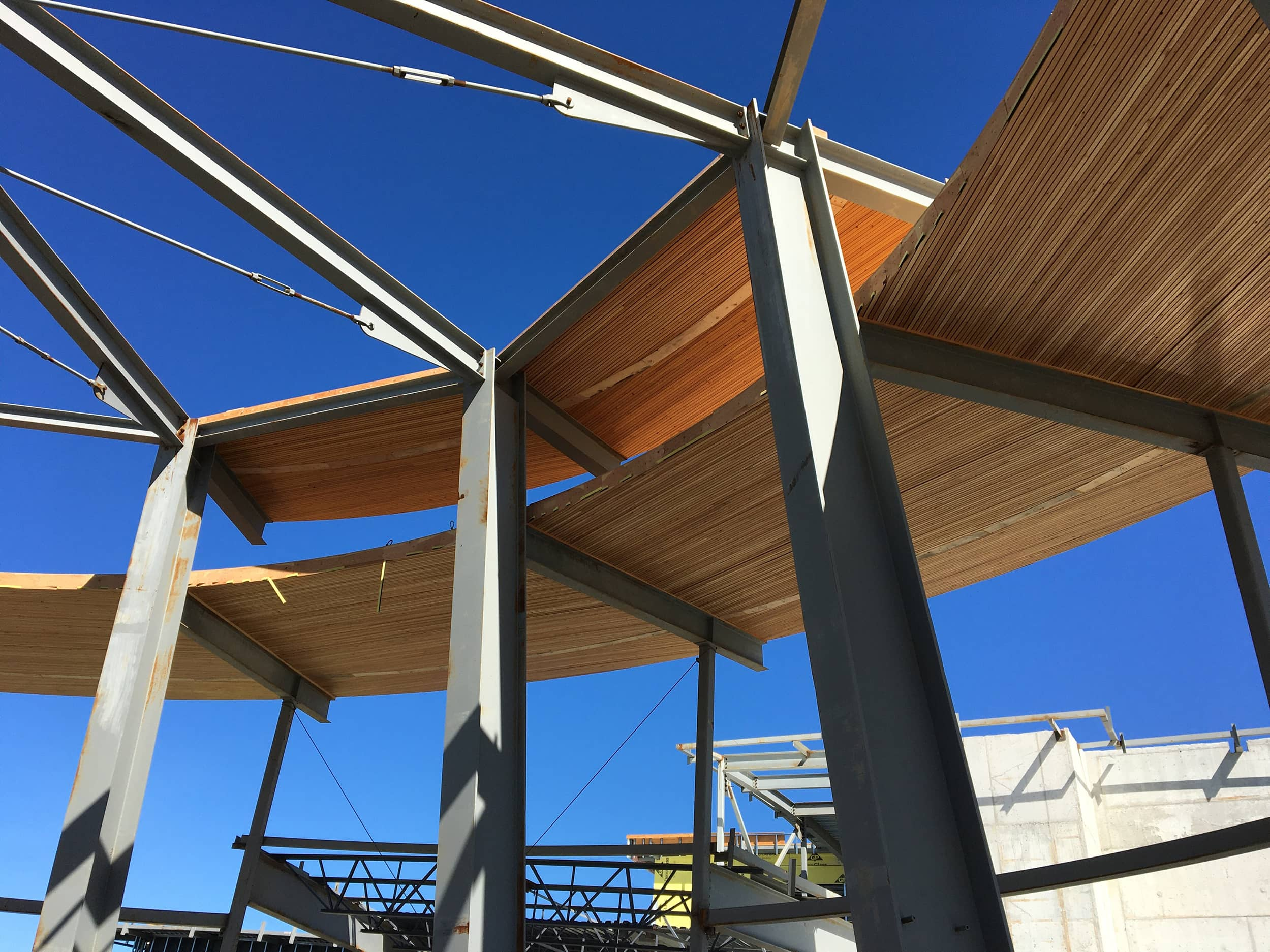 bbp grandview heights secondary construction steel and atrium beams