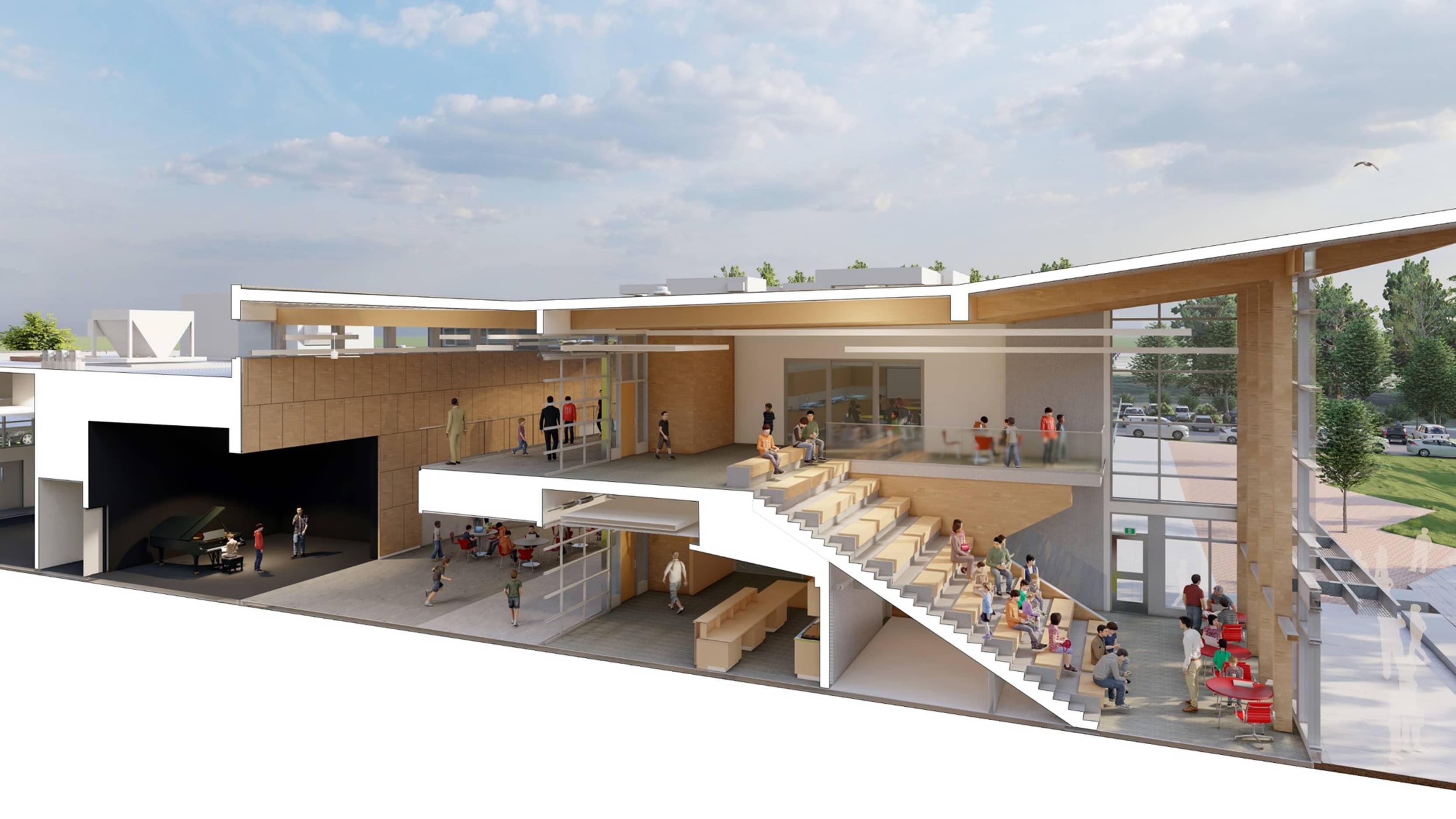 bbp southside elementary/middle school side view